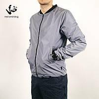 Куртка мужская весенняя без капюшона Red and Dog Svoker Grey