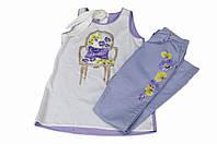 Нарядные брюки с цветочным принтом сбоку для девочки, бренд нарядной одежды Illudia, Италия , 164см