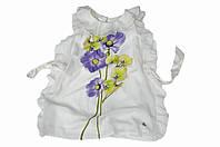 Нарядное платье, короткое, с пояском, по горловине и боковым швам - воланы, итальянский бренд ILLUDIA