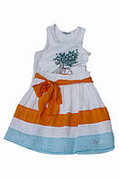 Нарядная юбка, полосатая, с оранжевым поясом (с фатином), итальянский бренд Alice Pi.