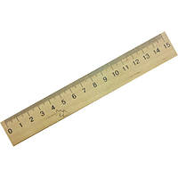 Линейка деревянная 15 см 103005-1001