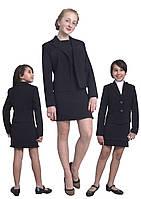 Пиджак школьный для девочки м-1090 рост 116 128 134 140 146 152 158 164 и170 черный, фото 1