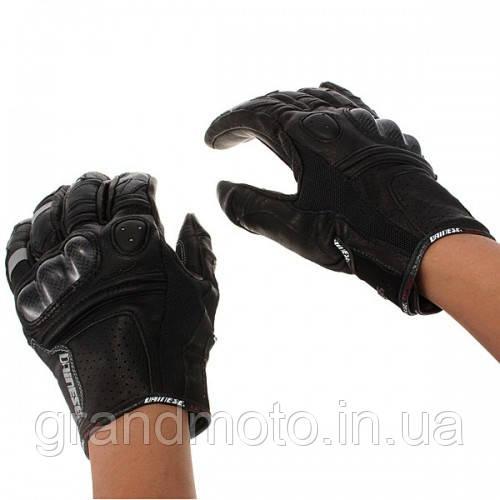 Перчатки кожаные спорт Dainese короткие