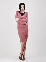 Длинное платье из ангоры со шнуровкой - 961