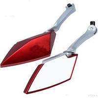 "Зеркала для мотоцикла ""Diamond"" (Сер, Красн, Зол), фото 1"
