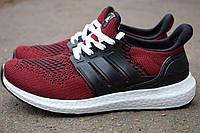 Бордові чоловічі кросівки Adidas Ultra Boost