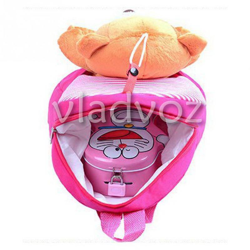 детский рюкзак с мягким мишкой