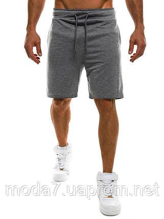 Шорты мужские серые трикотажные, фото 2