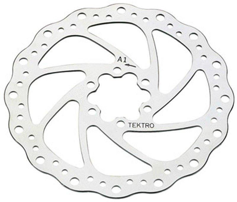 Ротор торм.диск.Tektro волнистый 180мм. под болты+6 болтов