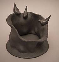 Ваза из черной глины. Авторская работа