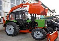 Грейферный погрузчик-экскаватор, агрегатируется с тракторами ПГ-1, ЮМЗ-6, МТЗ-82