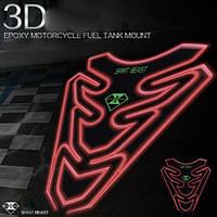 Светоотражающая 3D наклейка на бак Spirit Beast, фото 1