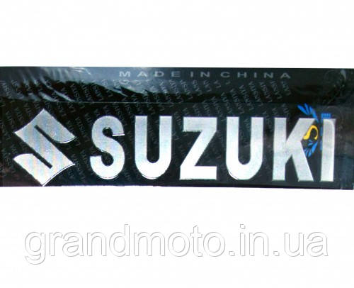 3D наклейка напис Suzuki з логотипом