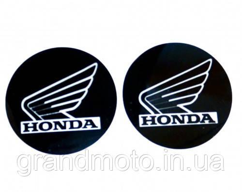 Наклейка логотип Honda с алюминиевым напылением