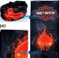 """Универсальная бандана Баф (buff) """"Harley Davidson и сердце"""""""