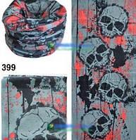 Универсальная бандана Баф (buff) четыре черепа