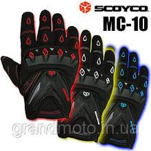 Мото рукавички Scoyco MC10 три різні кольори
