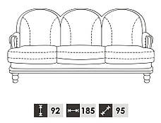 "Классический мягкий диван ""CONSUL"" (185 см), фото 3"