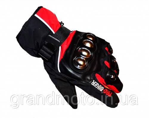 Теплі зимові мотоперчатки Probiker Winter з утеплювачем