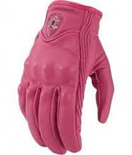 Жіночі мотоперчатки icon pursuit pink