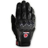 Текстильные мотоперчатки Scoyco MC09 черные, фото 1