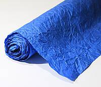 Бумага подарочная жатая Синяя 5 м/рулон
