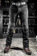 Мото джинсы с защитой Bull (цвет черный, синий)