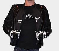 Текстильная мотокуртка Alpinestars черная, фото 1