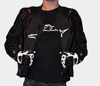 Текстильная мотокуртка Alpinestars черная