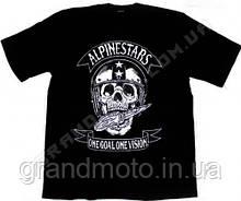 Футболка для мотоциклістів Alpinestars skull