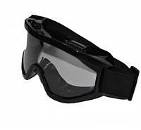 Тактическая(для страйкбола) / кроссовая маска прозрачная.