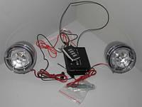 Мотоакустика MP3+радио+сигнализация 2х10Вт прозрачная