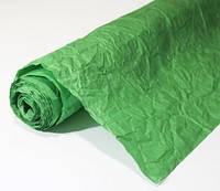 Бумага подарочная жатая Зеленая 5 м/рулон
