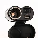 Прикуриватель + USB на руль с выключателем, фото 2