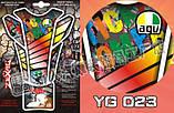 Наклейка на бак мотоцикла AGV YG023, фото 2