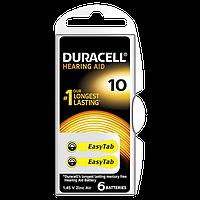 Воздушно цинковые батарейки 10 - duracell hearing aid 6/60/600шт