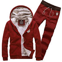 Мужской спортивный костюм с мехом (зима)