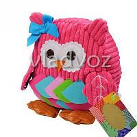 Детский рюкзак для девочки сова игрушка розовый