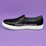 """Туфли женские на утолщенной белой подошве из натуральной кожи """"питон"""", фото 2"""