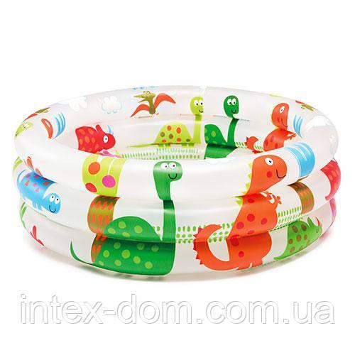 Надувной бассейн Intex Динозавры (57106) 61-22см