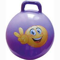 Мяч для фитнеса с ручкой IRONMASTER D65 (фиолетовый)