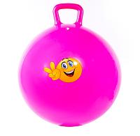 Мяч для фитнеса с ручкой IRONMASTER D65 (розовый)