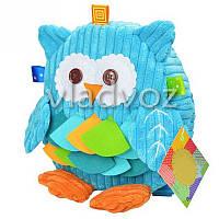 Детский рюкзак для девочки сова игрушка голубой
