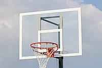 Щит баскетбольный дачный 900*680 мм из оргстекла 10 мм с антивибрационной металлической рамой, фото 1