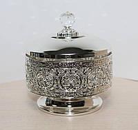 Хрустальная сахарница Сваровски с посеребрением AR-1249
