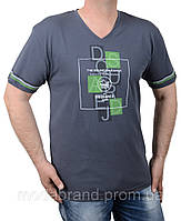Стильная мужская футболка большого размера 2XL-5XL серая