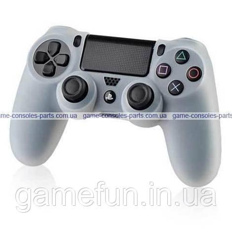 PS4 силиконовый чехол для джойстика Dualshock 4 (White)
