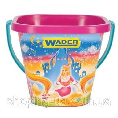 Квадратное ведерко для песка Wader 71714