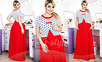 Вечернее платье в пол, насыщенного красного цвета покорит всех окружающих.