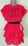 Нарядное летнее  платье для девочек.